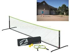 Portable Tennis Set Outdoor Sports Folding Net Racket Game Family Play Children