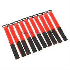 High Quality 10 Pcs Strong RC Battery Antiskid Cable Tie Down Straps 26*2cm Red