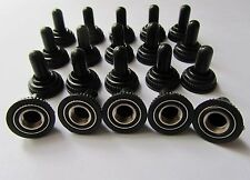 20x Black Mini Toggle Switch Waterproof Rubber Cap Water Proof Boot Cover