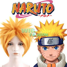 Naruto Uzumaki Short Yellow Blonde Anime Cosplay Hair Wig