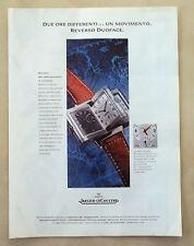 B499-Advertising Pubblicità-1999 - JAEGER LE COULTRE REVERSO DUOFACE