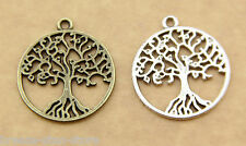 20pcs Bronze Silvery Tree of Life Charm Pendant charm finding beads