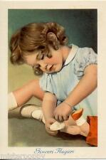 Bambina con Bambola Girl with Doll PC Circa 1950 Real Photo 2