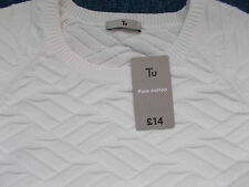 TU CREAM SHORT SLEEVE JUMPER SIZE 12 NEW WITH TAGS!!