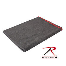 """New Rothco 10429 Grey Wool Army Style Rescue Survival Wool Blanket 60"""" X 80"""""""