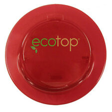 "EcoTop RED 3"" in. Lid Top Cup Coffee Travel Mug Cover Eco-Friendly Leak Free"