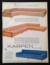 1960 Karpen Furniture home furnishings sofa couch 3 styles vintage print ad