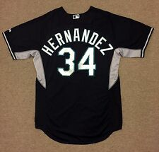 Felix Hernandez MLB Holo Game Used Jersey 2015 BP Seattle Mariners