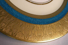 Hutschenreuther~Scarce Art Deco Patterned Gold Encrusted Plate~LHS Bavarian 11""