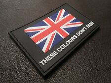 3D PVC GLOW THESE COLOURS DON'T RUN BRITISH ARMY UK UKSF SAS FLAG VELCRO PATCH