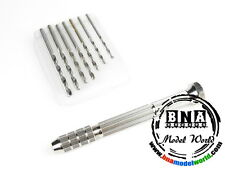 Fine Pin Vice (1.8mm - 3.0mm) with 7 Drill bits