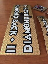 Diamondback Silver Streak Decals Sticker Set Suit Your Old School BMX Gold