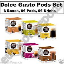 Dolce Gusto Set:Latte Macchiato Cappucino Chococino Espresso Lungo Grande 96 Pod