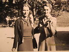 Vtg. Photo Snapshot Sally Sanders Irene Haggart URD State Picnic Mitchell IN