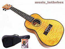 """WOODNOTE / Special  24"""" Concert Okoume with Tiger Flamed Mahogany Ukulele"""