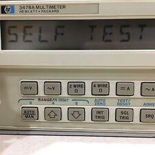 HP-3478A, 5.5-Digit, HP, Hewlitt Packard DVM Digital Multimeter