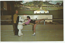 Redwood Empire Ice Arena, Snoopy & Instructor, Santa Rosa, CA., 1960s ? Postcard