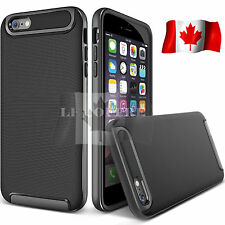 Black Ultra Thin Slim Hard Bumper Soft Rubber Back Case Cover for iPhone 7