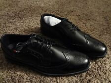 Mens Black Wingtip Size 11 D Bench Polished Gloss