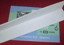 dachbodenfund alt prospekt blatt werbung textil bekleidungs messe hamburg 1959