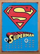 DC Comics Superman Logo - Tin Metal Perpetual Calendar