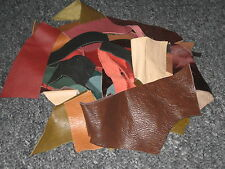 LEATHER SCRAPS & OFFCUTS ALL SHAPES AND SIZE 90g MIXED COLOURS