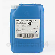Aral Super Tronic Longlife 3 Motoröl SAE 5w 30 20 Liter Kanister III 507.00 C30