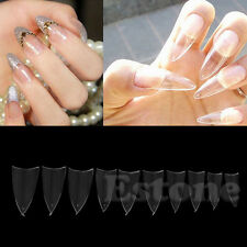 500 Pcs Transparent Sharp Stiletto Point French Acrylic UV Gel False Nail Tips