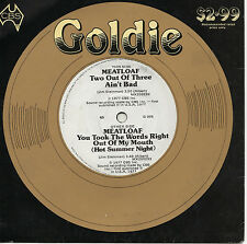 "MEATLOAF - TWO OUT OF THREE AIN'T BAD - PROMO - RARE GOLDIE 7"" 45 RECORD 1981"