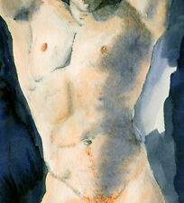 Painting NUDE male AARON TORSO 1/35/50 gay red hair NR