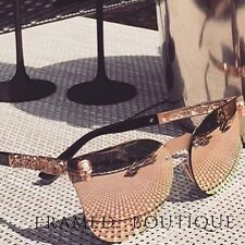 PINK RoseGold MIRRORED Reflective AVIATOR SUNGLASSES Celebrity SKULL .10