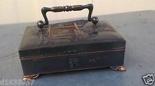 China Antique Suitcase shape Jewelry box of copper