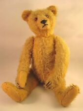 "Early 1900's ~ ANTIQUE 10"" TEDDY BEAR ~ Light Brown Mohair"