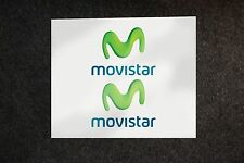 2x Movistar stickers decals MOTO GP Yamaha sponsor sticker decal