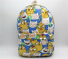 anime Adventure Time with Finn and Jake Backpack Shoulder Bag Canvas Travel bag