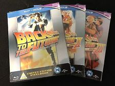 NEW Back To The Future Trilogy Bluray Steelbook Limited Edition Fox Spielberg
