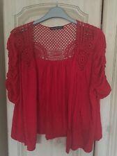 Ladies Red Cardigan Size 14 Atmosphere