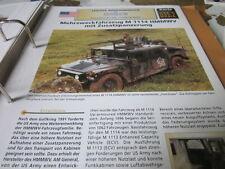 Archiv Militärfahrzeuge Leichte Rad Kfz USA 31.2 Hummer mit Zusatzpanzerung
