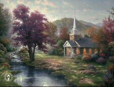 Streams of Living Water - Chapel, Mountain etc. - Thomas Kinkade Dealer Postcard