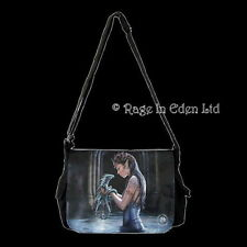 *WATER DRAGON* Goth Shoulder / Messenger Fantasy Fairy Art Bag By Anne Stokes