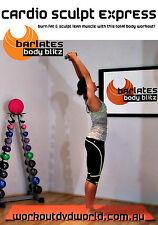 Barre Ballet Style EXERCISE DVD - Barlates Body Blitz CARDIO SCULPT EXPRESS!