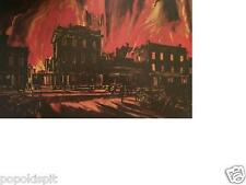 "GONE WITH THE WIND ""BURNING ATLANTA"" MAC JOHNSON LITHO - SHAW-TUMBLIN COLLECTION"