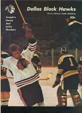 1971-72 Dallas Black Hawks Oklahoma City Blazers 1/1/72 hockey program  MBX44
