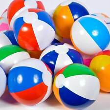 "6 ASSORTED BEACH BALLS 12"" Pool Party Beachball #LN3 Free shipping"
