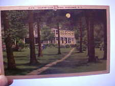 Postcard of the Country Club at Night, Highlands, NC dated 1952