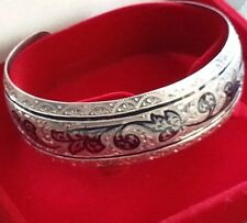 Nielo solid silver ornamented bangle Russian bracelet Russia M☆875 boxed gift