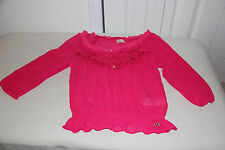2013 hollister Womens Pink Sheer fashion blouse top boho peasant size S-NWT