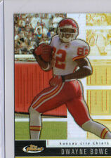 2008 TOPPS FINEST FOOTBALL DWAYNE BOWE REFRACTOR CARD