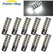 10 X 6000K White BAY15D 1157 68-SMD Turn Signal Stop Brake Tail LED Bulbs 12V