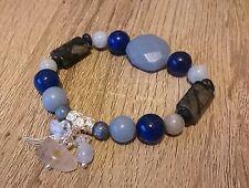 Archangel Michael Attunement Bracelet Angelite Aquamarine Lapis Lazuli Kyanite